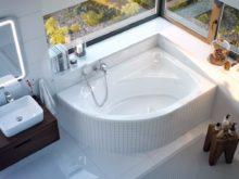 Треугольная ванна: красота и удобство в ванной комнате